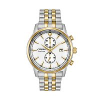Citizen Eco-Drive Men's Corso Two Tone Stainless Steel Chronograph Watch - CA7004-54A