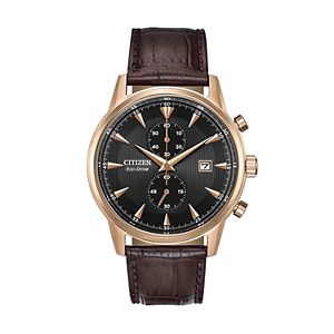 72b417879 Citizen Eco-Drive Men's Brycen Leather Chronograph Watch - CA0649-06X