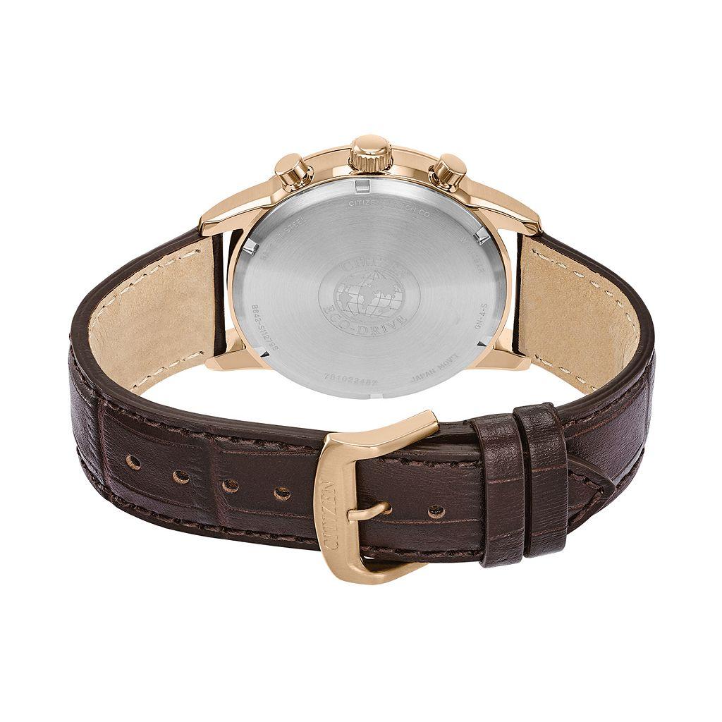 Citizen Eco-Drive Men's Corso Leather Chronograph Watch - CA7003-06E