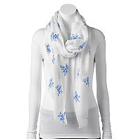 Chaps Floral Oblong Scarf