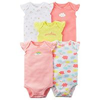 Baby Girl Carter's 5-pk. Printed Bodysuits