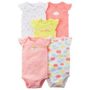 Baby Girl Carter's 5-pk. Printed Bodysuits