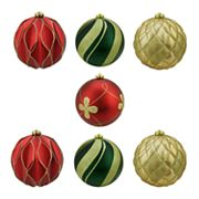 Northlight Shatterproof Ball Christmas Ornament 7 pc Set