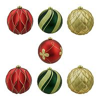 Northlight Shatterproof Ball Christmas Ornament 7 pc Set