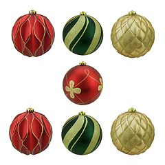 Northlight Shatterproof Ball Christmas Ornament 7-piece Set