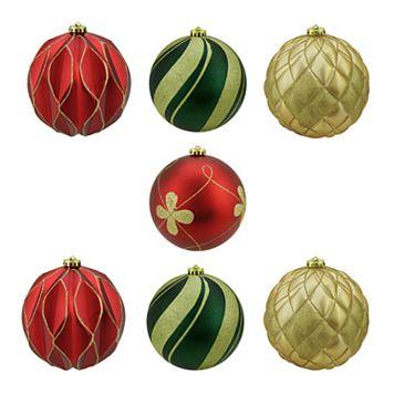 Northlight Shatterproof Ball Christmas Ornament 7-piece Set