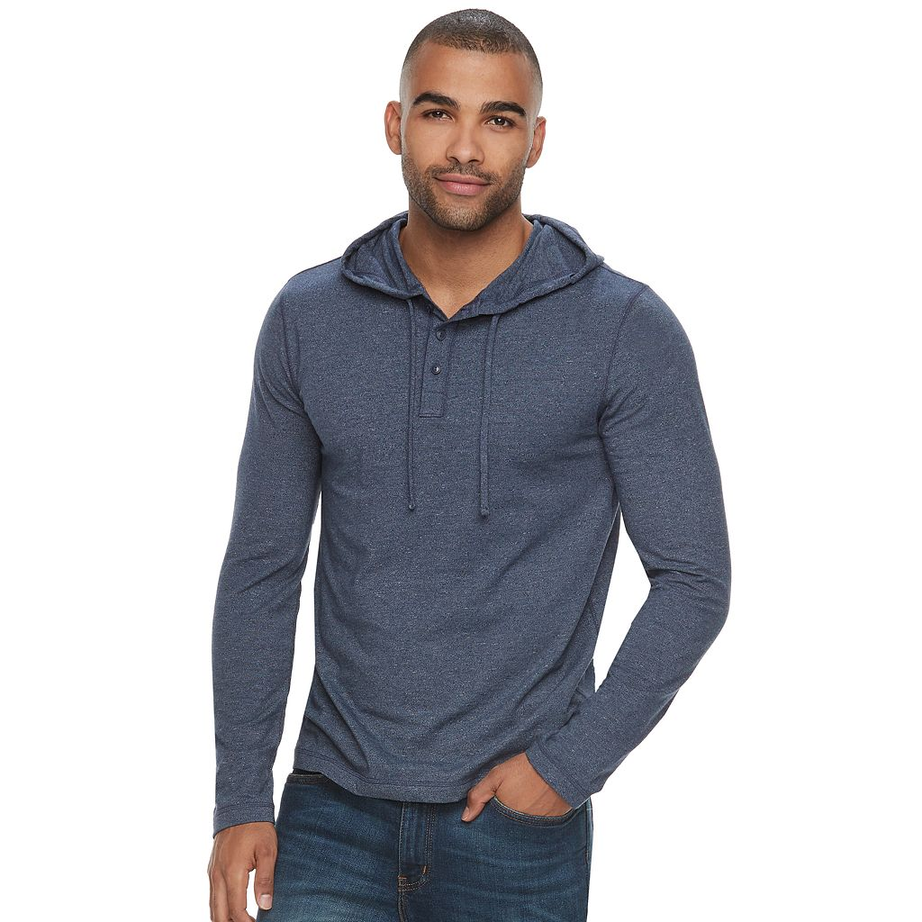 Men's SONOMA Goods for Life™ Supersoft Classic-Fit Henley Hoodie