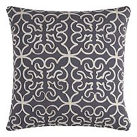 Rizzy Home Medallions Corded Embroidered Throw Pillow