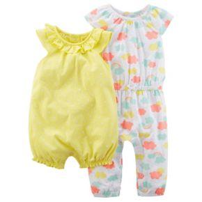 Baby Girl Carter's Cloud Jumpsuit & Polka-Dot Romper Set