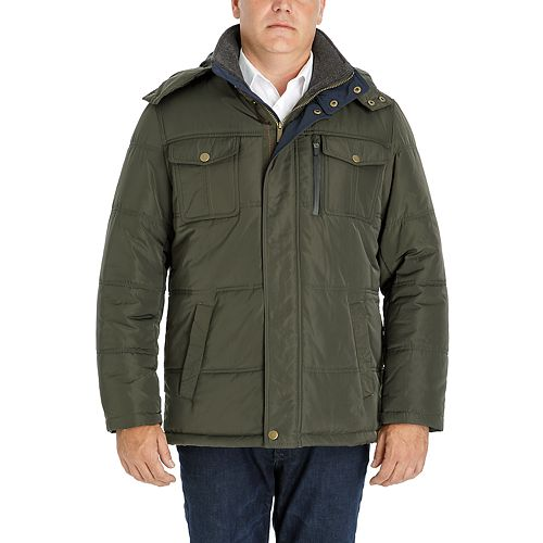 Big & Tall Men's London Fog Towne Quilted Hooded Parka