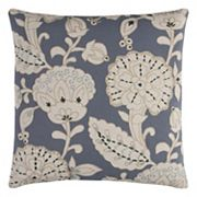 Rizzy Home Leaves & Seed Pods Applique Throw Pillow