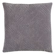 Rizzy Home Textured Crosshatch Quilted Throw Pillow