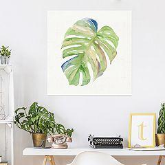 Artissimo Designs Tropical Leaf I Canvas Wall Art