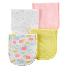 Baby Girl Carter's 4-pk. Clouds & Rainbows Burp Cloths