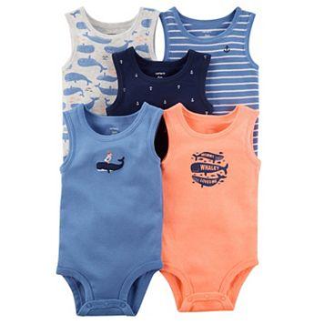 Baby Boy Carter's 5-pk. Printed Bodysuits