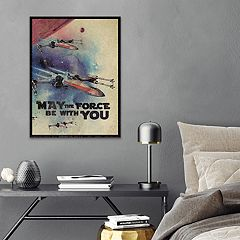 Star Wars 'The Force' Framed Canvas Wall Art