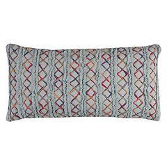 Rizzy Home Textured Tie-Dye Stripe Oblong Throw Pillow