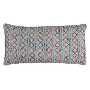 Rizzy Home Textured Tie-Dye Stripe Oblong Throw Pillow