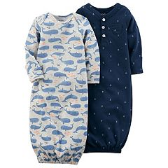 Baby Boy Carter's 2 pkWhale & Anchor Print Sleeper Gowns