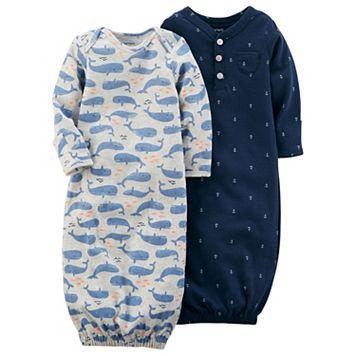 Baby Boy Carter's 2-pk. Whale & Anchor Print Sleeper Gowns