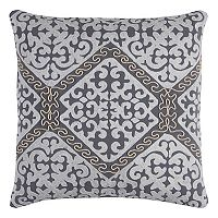 Rizzy Home Medallion Chain Stitch Corded Throw Pillow