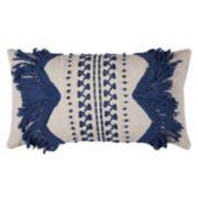 Rizzy Home Zig Zag Stripe Applique Oblong Throw Pillow
