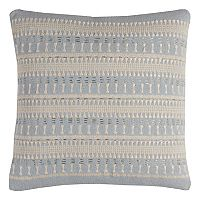 Rizzy Home Textured Stripe Embroidered Throw Pillow