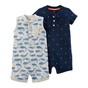 Baby Boy Carter's 2 pkNautical Rompers