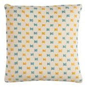 Rizzy Home Textured Bow Tie Embroidered I Throw Pillow