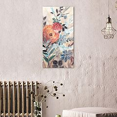 Artissimo Designs White Line Florals I Canvas Wall Art