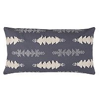 Rizzy Home Textured Arrows Embroidered Oblong Throw Pillow