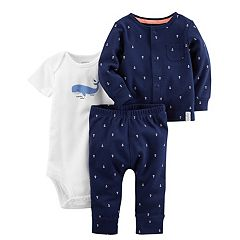 Baby Boy Carter's Whale Bodysuit, Anchor Cardigan & Pants Set
