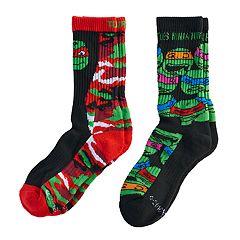 Boys 4-20 Teenage Mutant Ninja Turtle 2-Pack Crew Socks