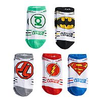 Boys 4-20 Justice League 5-Pack Low-Cut Socks