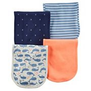 Baby Girl Carter's 4 pkNautical Burp Cloths