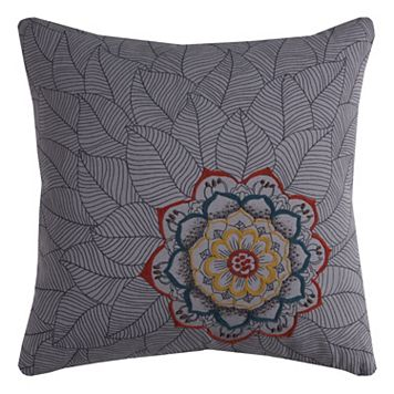Rizzy Home Medallion Petals Chain Stitch Throw Pillow