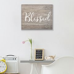 Artissimo Designs Faux Wood 'Blessed' Wall Decor