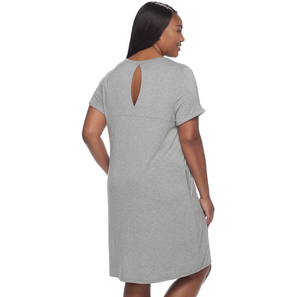 Plus Size SONOMA Goods for Life™ Keyhole Sleep Shirt