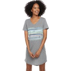 Women's SONOMA Goods for Life™ Pajamas: Short Sleeve V-Neck Sleep Shirt