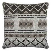 Rizzy Home Geometric Textured Printed Embroidered I Throw Pillow
