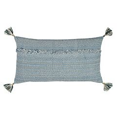 Rizzy Home Tassels Embroidered Oblong Throw Pillow