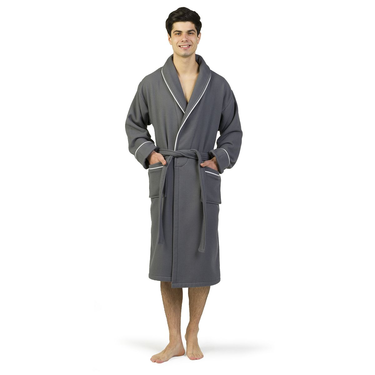 Linum Home Textiles Waffle Terry Bathrobe Navy dGwl5