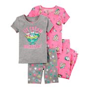 Toddler Girl Carter's 4-pc.'Ice Cream Breakfast' Sundae Pajamas Set