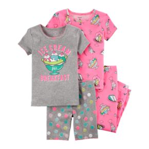 "Toddler Girl Carter's 4-pc.""Ice Cream Breakfast"" Sundae Pajamas Set"
