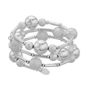 Textured Beaded Coil Bracelet
