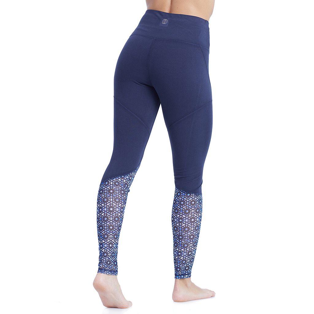 Women's Balance Collection Natasha Printed Mesh Leggings