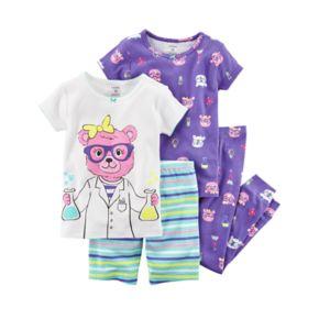 Toddler Girl Carter's 4-pc. Bear Scientist Pajamas Set
