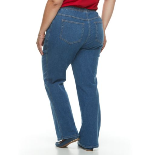 Plus Size Croft & Barrow® Pull-On Bootcut Jeans