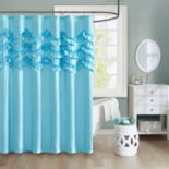 Intelligent Design Carmen Ruffle Shower Curtain