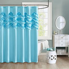 Intelligent Design Carmen Ruffle Shower Curtain